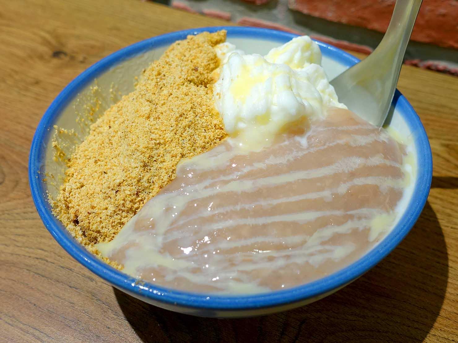 台北・西門町のおすすめデザート店「來呷甜甜品」の蜜芋麻糬燒雪冰