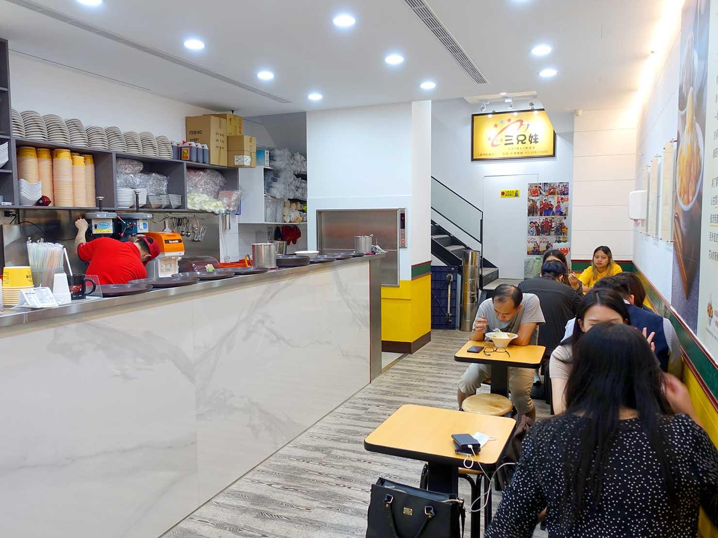 台北・西門町のおすすめひんやりスイーツ店「三兄妹雪花冰」の店内