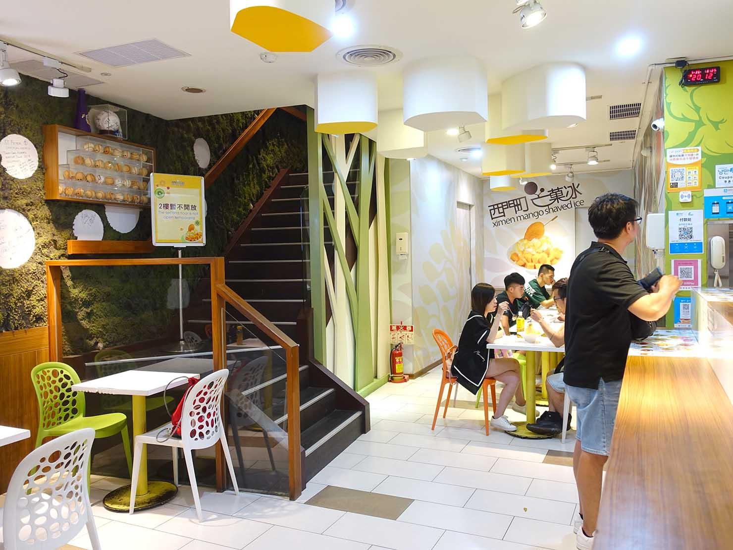 台北・西門町のおすすめひんやりスイーツ店「西門町芒果冰」の店内