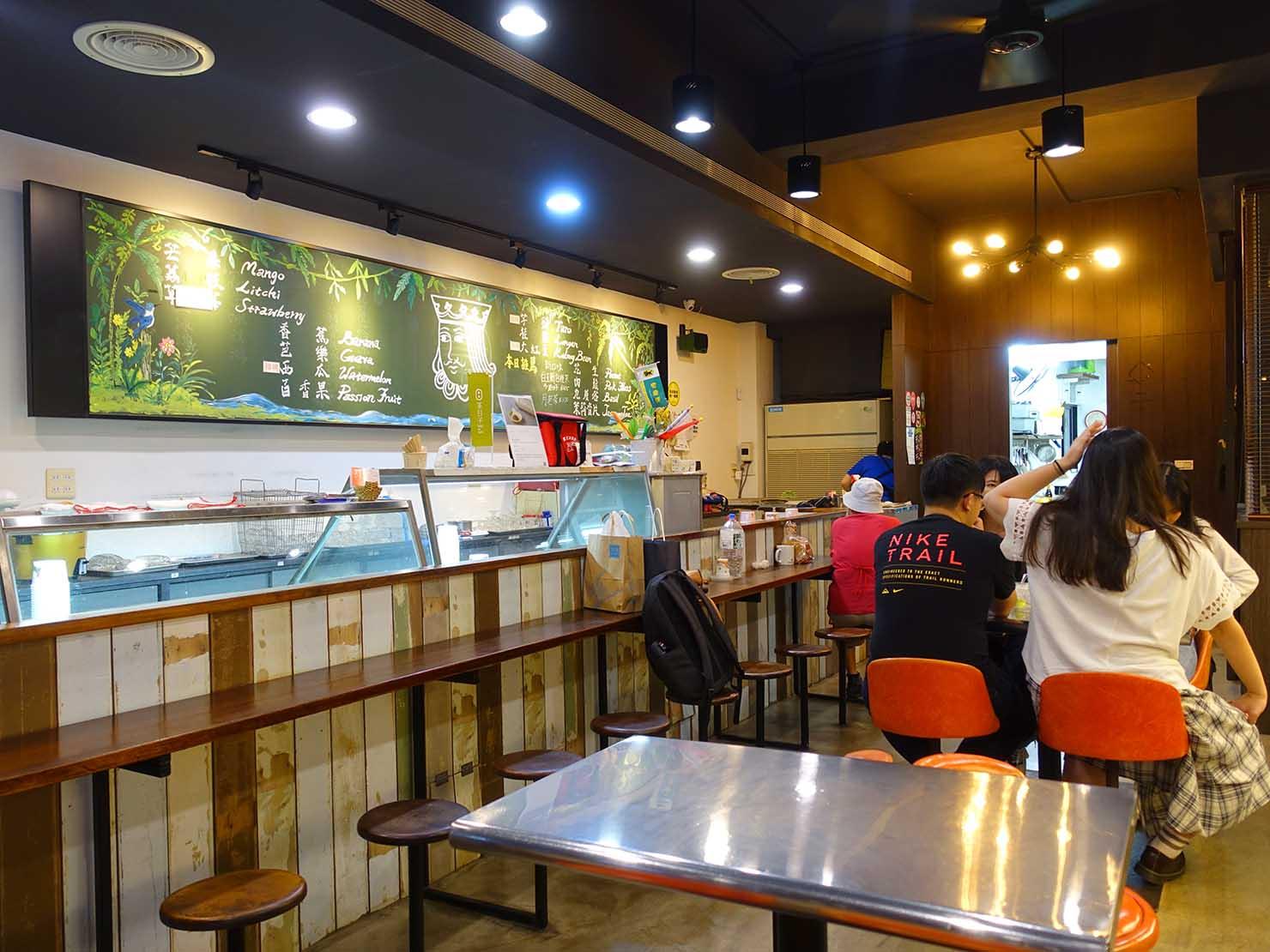 台北・西門町のおすすめひんやりスイーツ店「雪王冰淇淋」の店内
