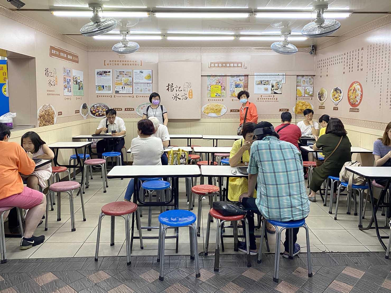 台北・西門町のおすすめひんやりスイーツ店「楊記冰店」の店内