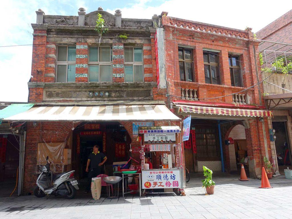 台北・金山老街に建つレンガ造りの老房子
