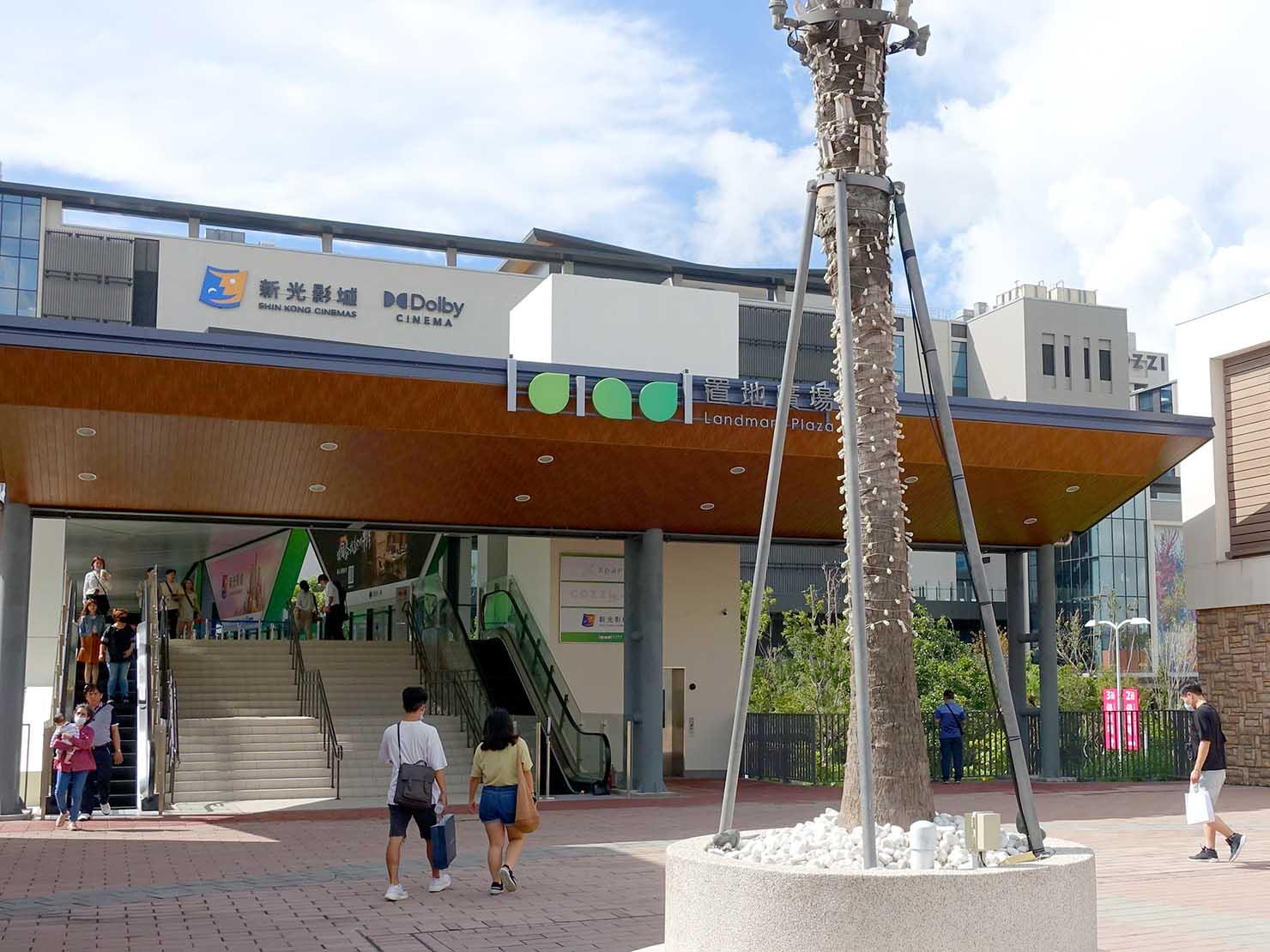 高鐵桃園駅横にあるホテル「COZZI」と映画館「新光影城」