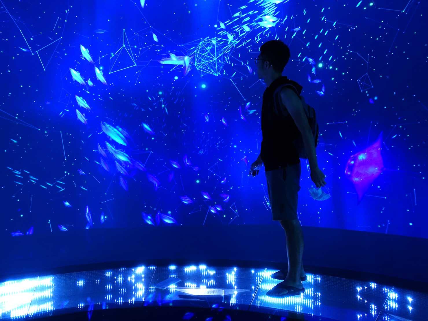 台北に誕生した都市型水族館「Xpark」エントランスのフォトスポット