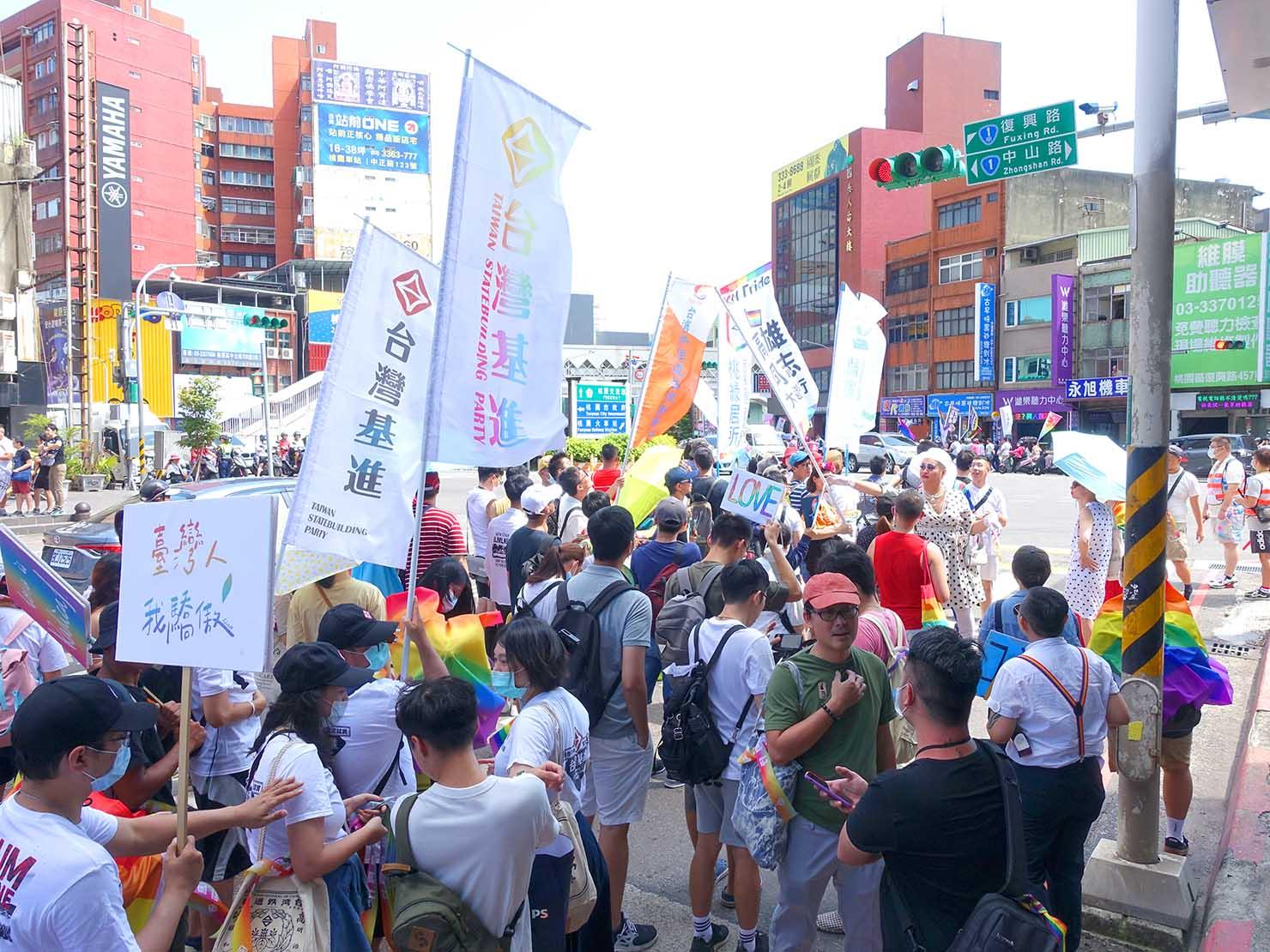 台湾・桃園のLGBTプライド「桃園彩虹野餐日」2020のパレード隊列