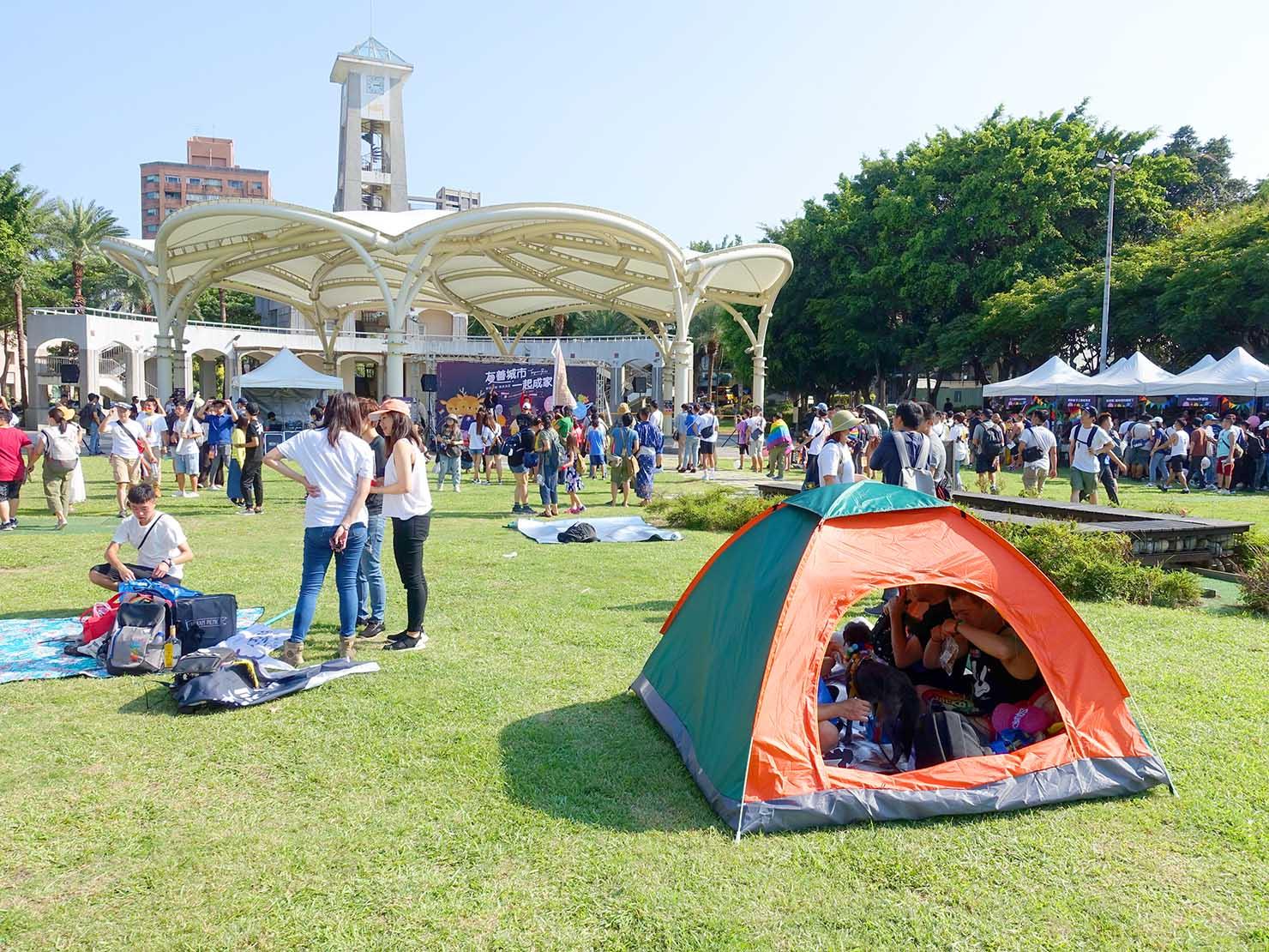 台湾・桃園のLGBTプライド「桃園彩虹野餐日」2020会場となった朝陽森林公園