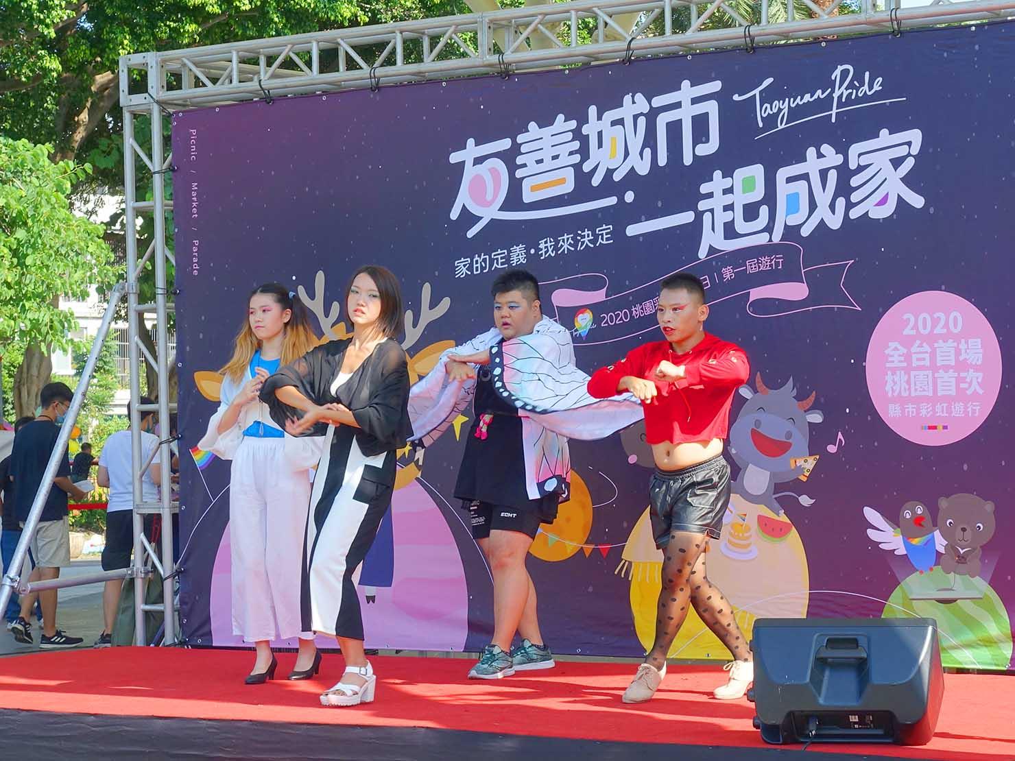 台湾・桃園のLGBTプライド「桃園彩虹野餐日」2020会場の特設ステージ