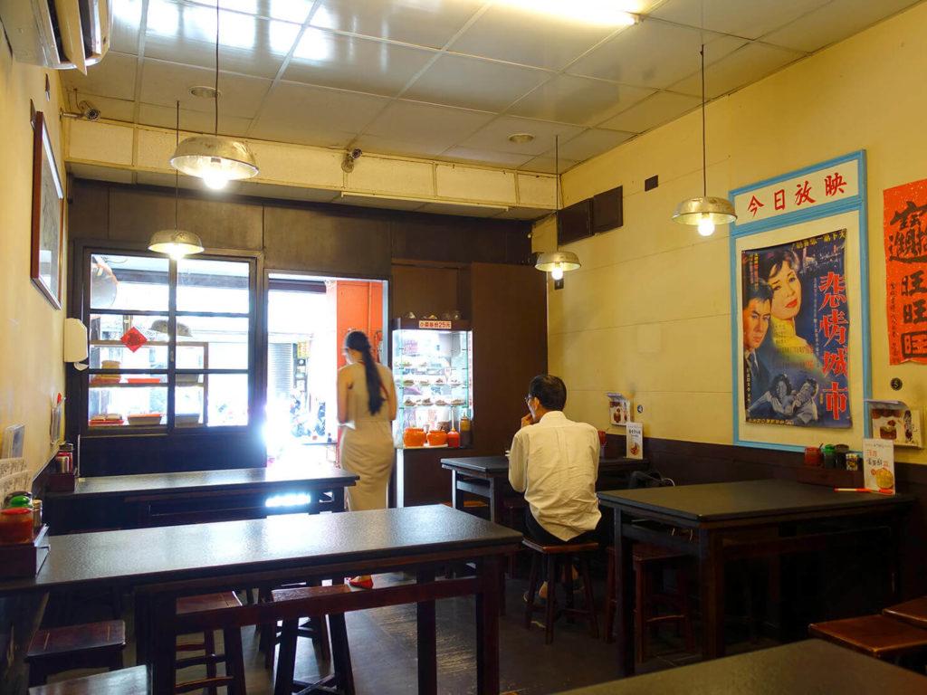 台北・西門町での朝ごはんにおすすめのグルメ店「西門麵店」の店内