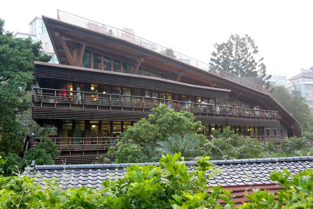台北市立圖書館北投分館の外観
