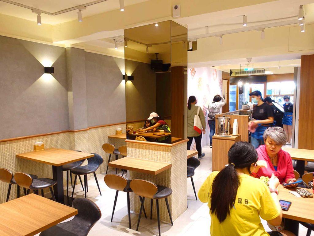 台北101/世貿駅(吳興商圈)のおすすめグルメ店「友誼冰菓室」の店内