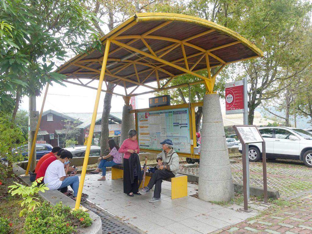 台南・關子嶺のバス停
