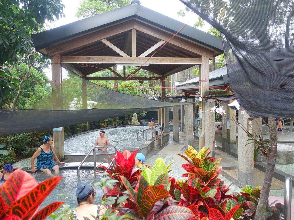 台南・關子嶺温泉のホテル「關子嶺統茂溫泉會館」の露天温泉
