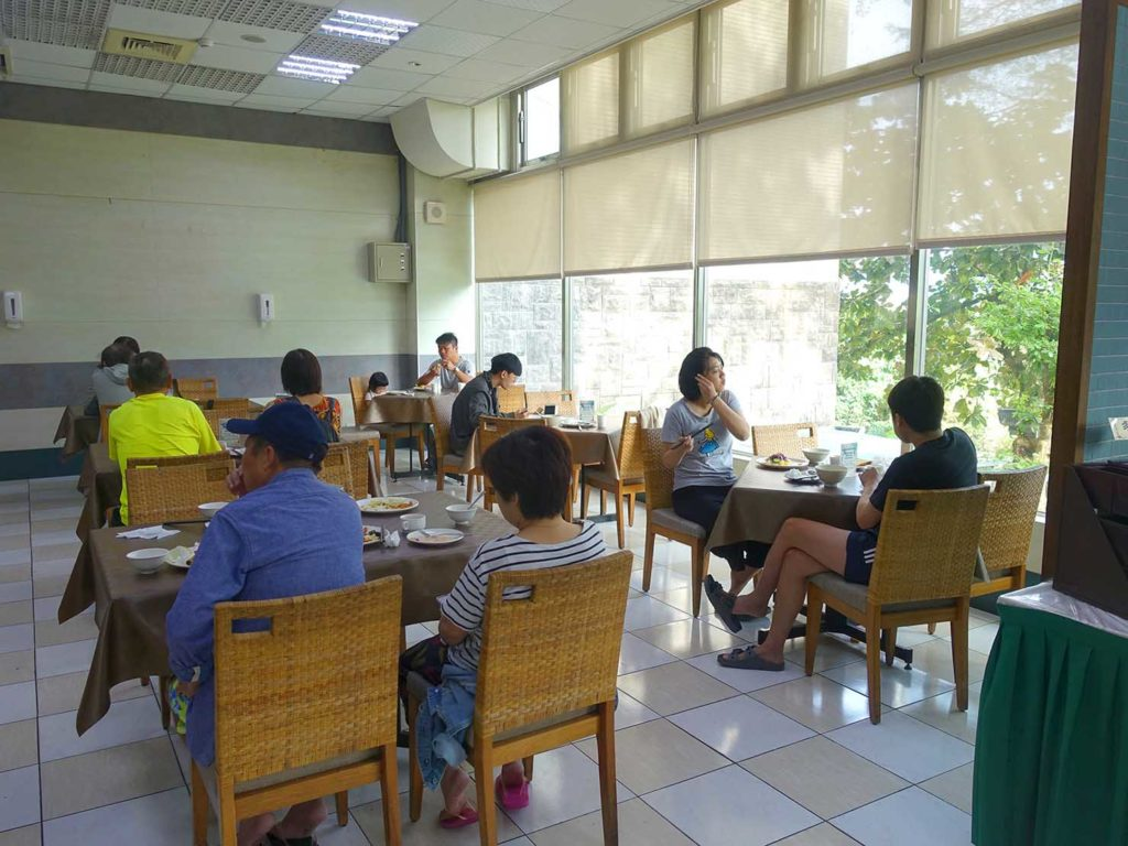 台南・關子嶺温泉のホテル「關子嶺統茂溫泉會館」のレストラン