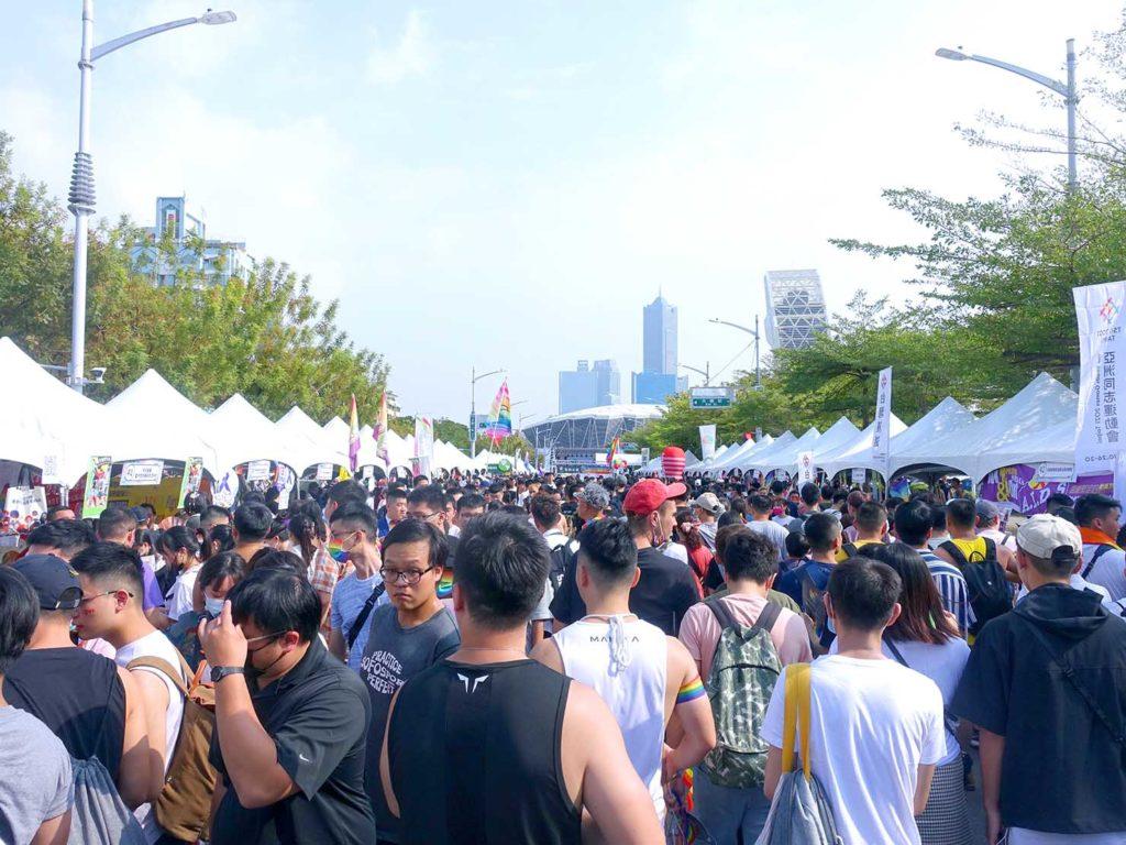高雄同志遊行(高雄プライド)2020のパレード開始前の会場