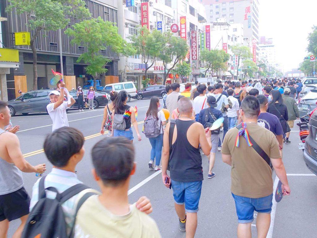 高雄同志遊行(高雄プライド)2020のパレード終盤の隊列