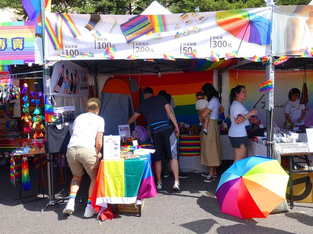 台灣同志遊行(台湾LGBTプライド)2020の市政府廣場前の特設ブース