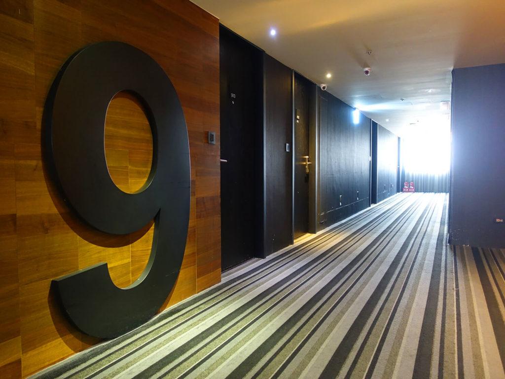 高雄・市議會駅エリアのおすすめホテル「WO Hotel」のエレベーターホール