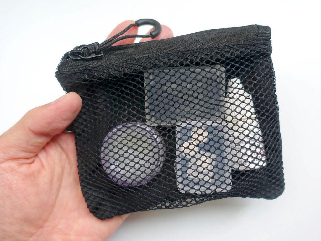 重いカバンを軽量化するために新調した持ち物「MUJI - 聚酯纖維雙拉鍊袋S」