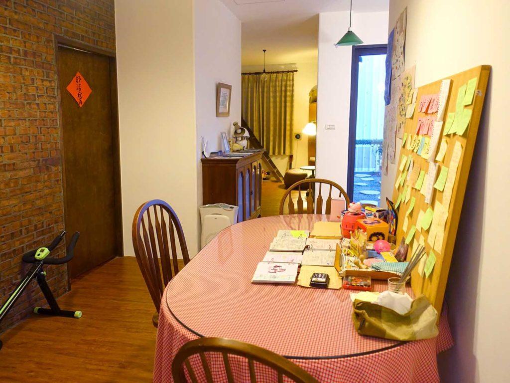台南のおすすめ古民家ゲストハウス「一緒二咖啡民居」共用スペース