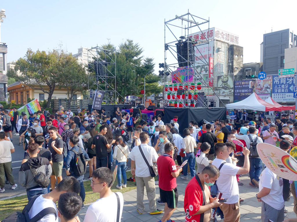台南彩虹遊行(台南レインボープライド)2020の特設ステージ前