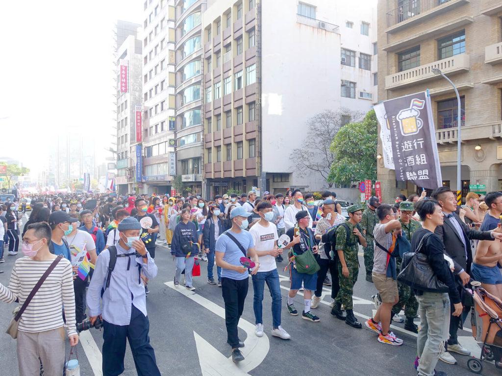 台南彩虹遊行(台南レインボープライド)2020のパレード出発