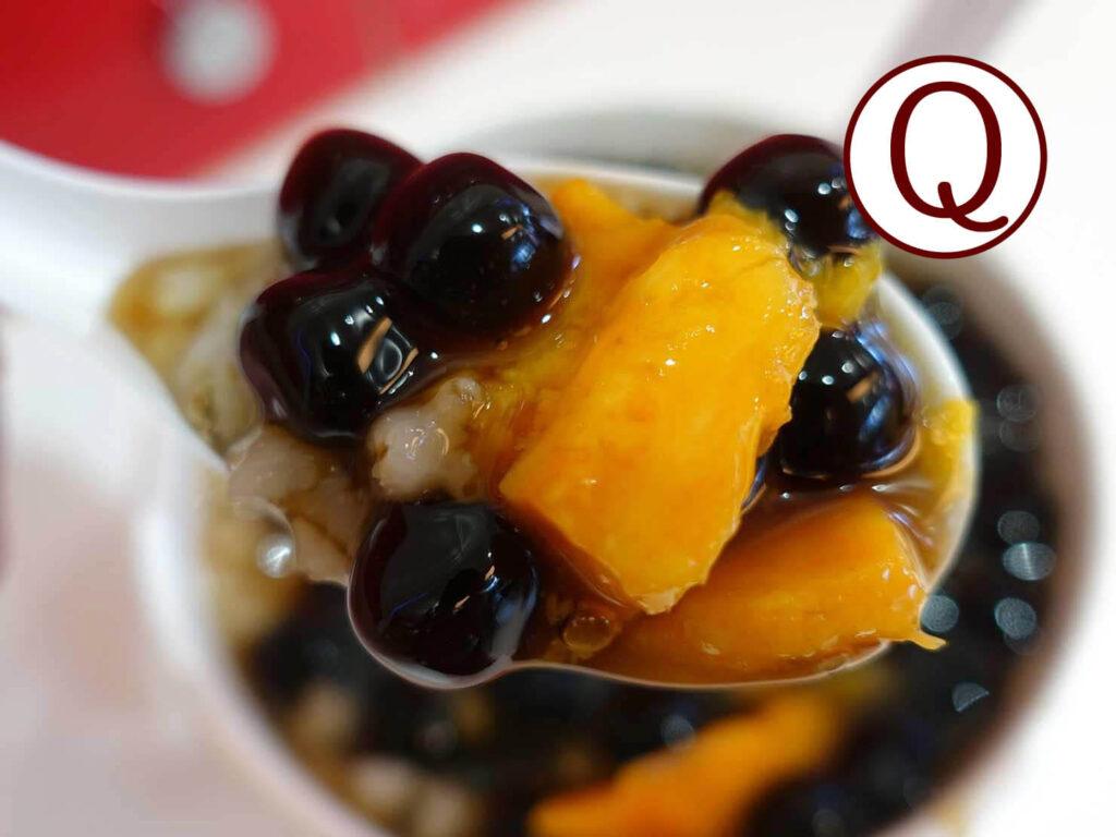 台湾で使われている食感に関する中国語「Q」