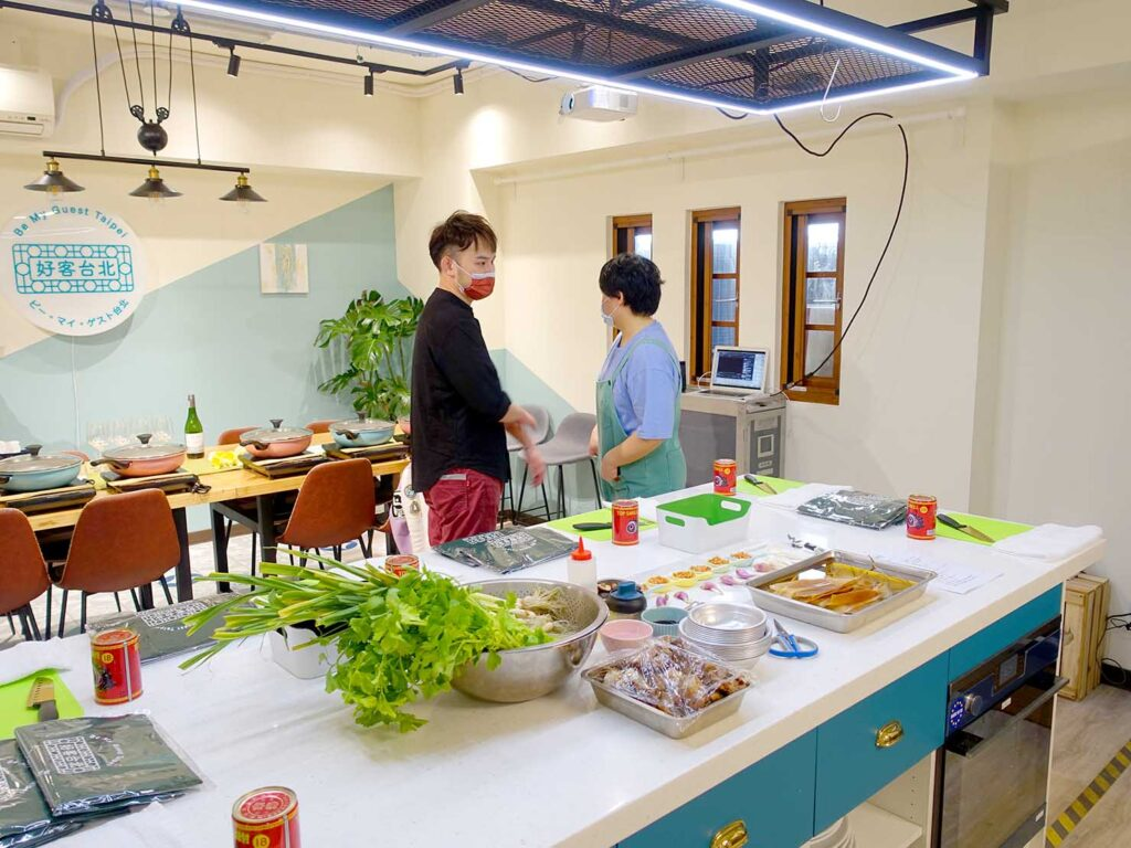 台湾料理教室&プライベートレストラン「好客台北 Be My Guest Taipei」のキッチン