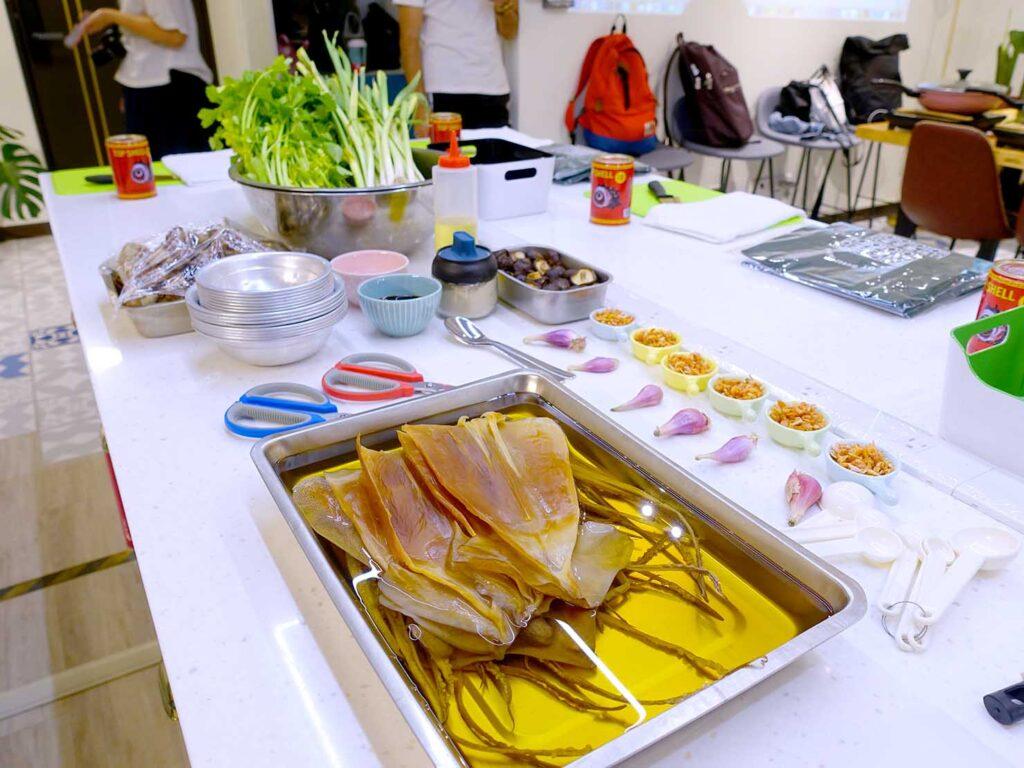 台湾料理教室&プライベートレストラン「好客台北 Be My Guest Taipei」のキッチンに準備された食材たち