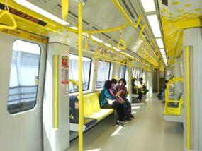 台北MRT環狀線の車内