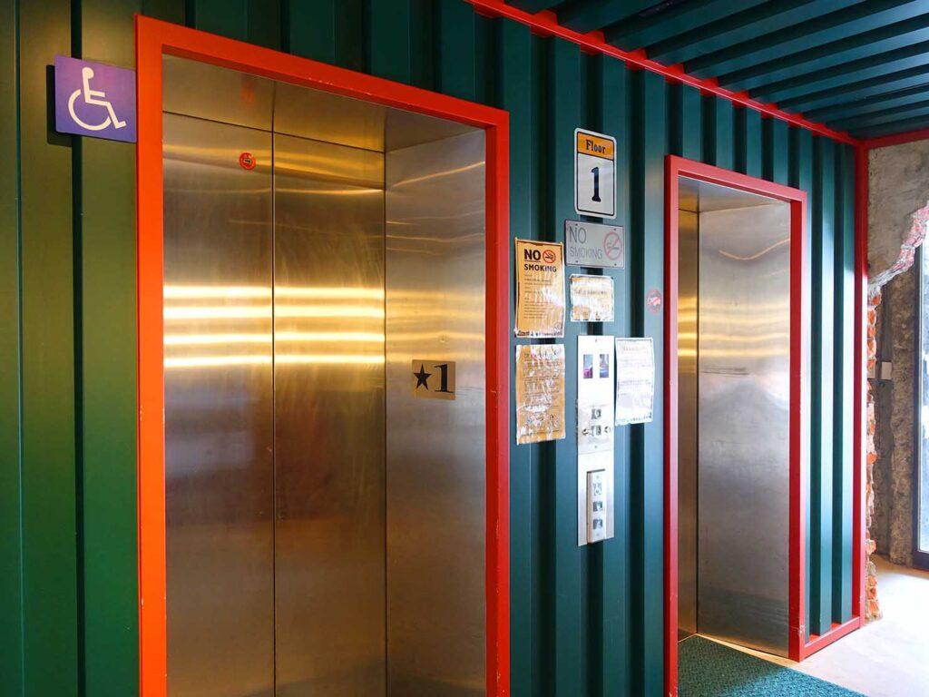 台北のおすすめLGBTフレンドリーホテル「路徒行旅 Roaders Hotel」1Fエレベーターホール
