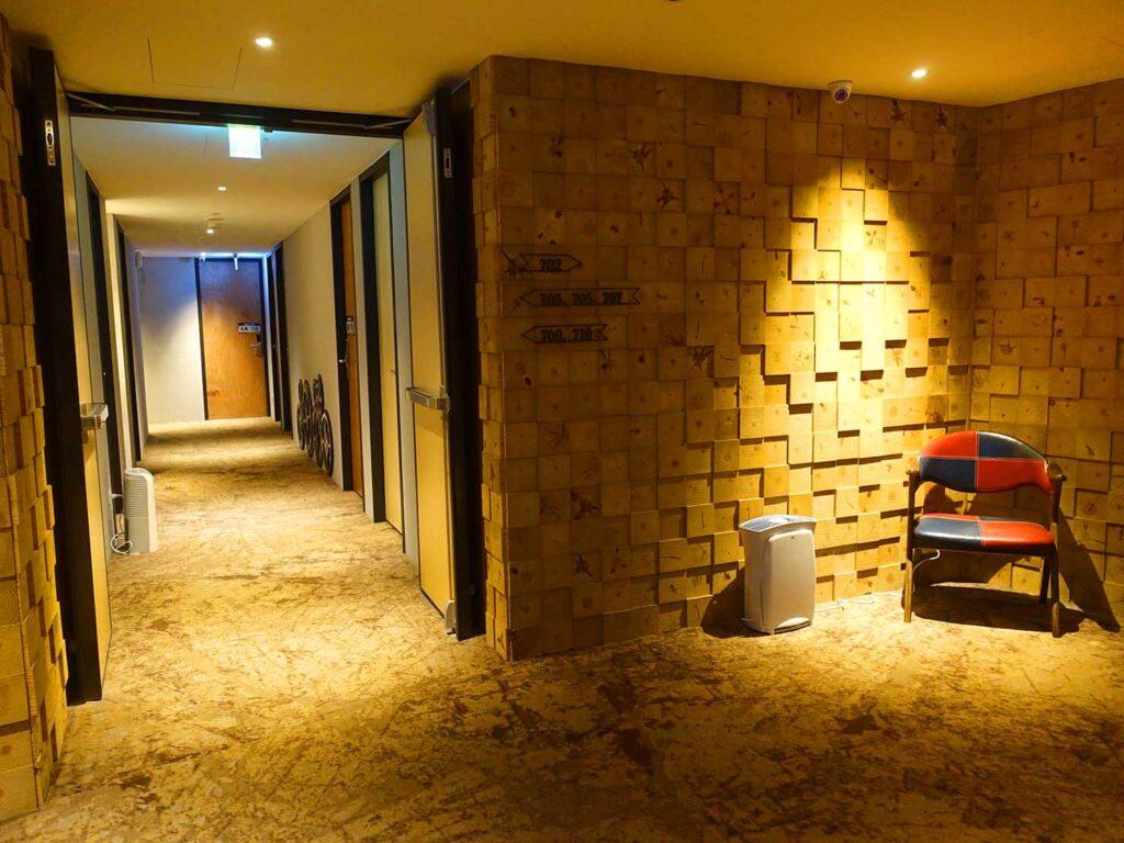 台北のおすすめLGBTフレンドリーホテル「路徒行旅 Roaders Hotel」7Fのエレベーターホール