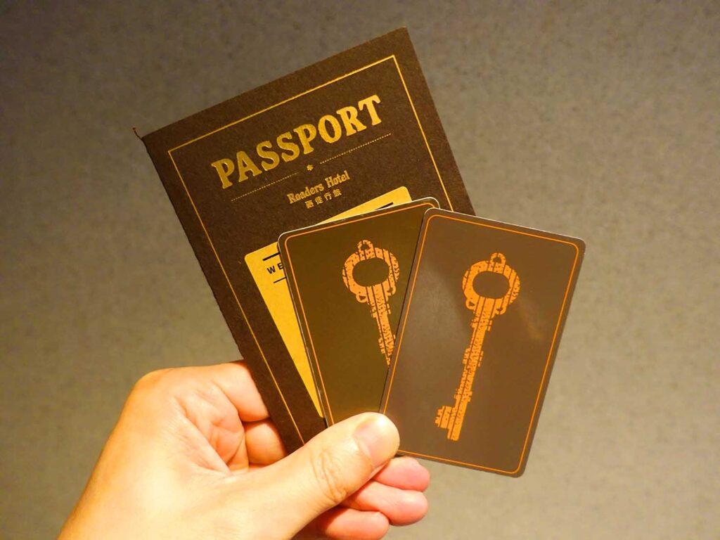 台北のおすすめLGBTフレンドリーホテル「路徒行旅 Roaders Hotel」のカードキー