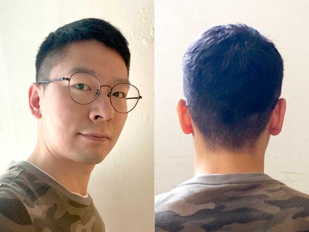 台湾で300元10分間カットへ行った後のヘアスタイル