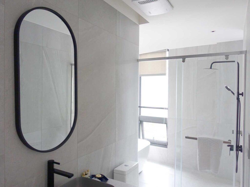 台北・九份のおすすめゲストハウス「九份山午」デラックス・クイーンルームのバスルーム
