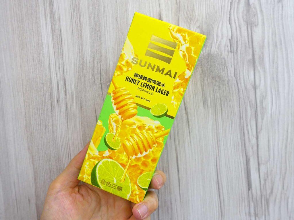 台湾のコンビニで買えるおすすめアイスクリーム「檸檬蜂蜜啤酒冰」のパッケージ