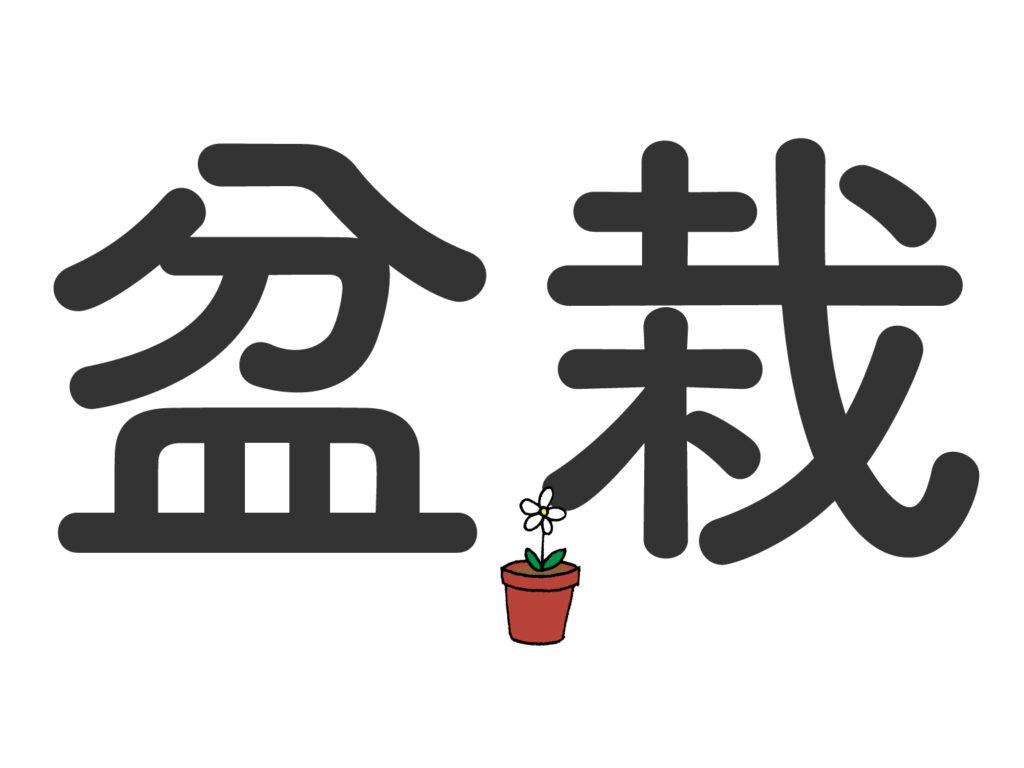日本語と同じ漢字でも、意味が異なる中国語単語「盆栽」