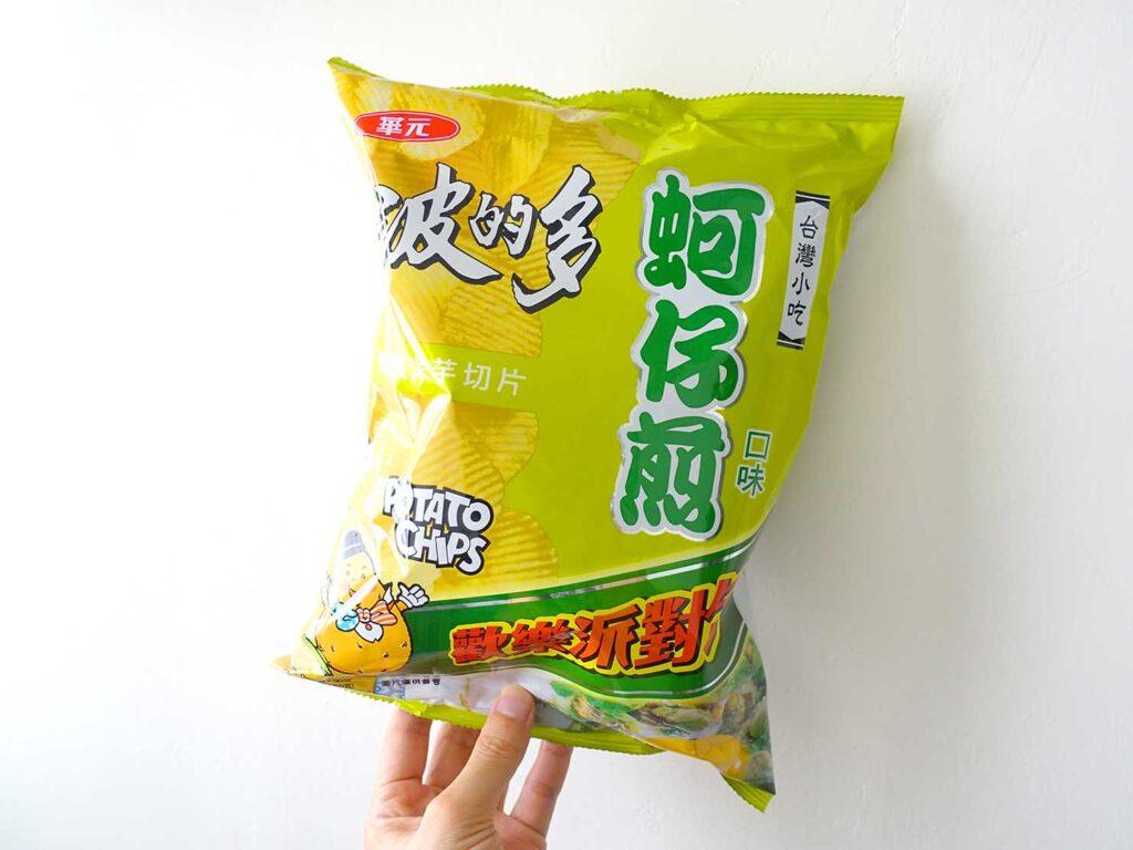 台湾のスーパーで買えるおすすめローカルスナック菓子「波的多蚵仔煎」