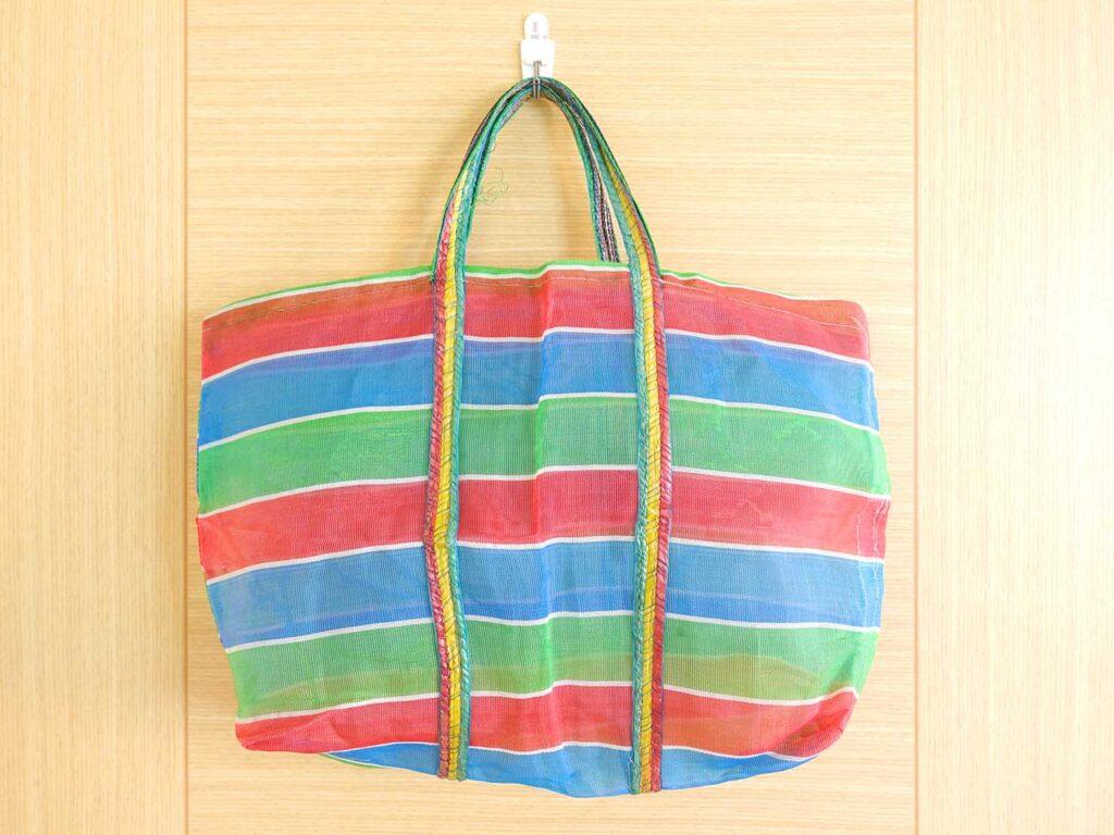 台湾生活で愛用しているナイロン漁師網バッグ「茄芷袋」