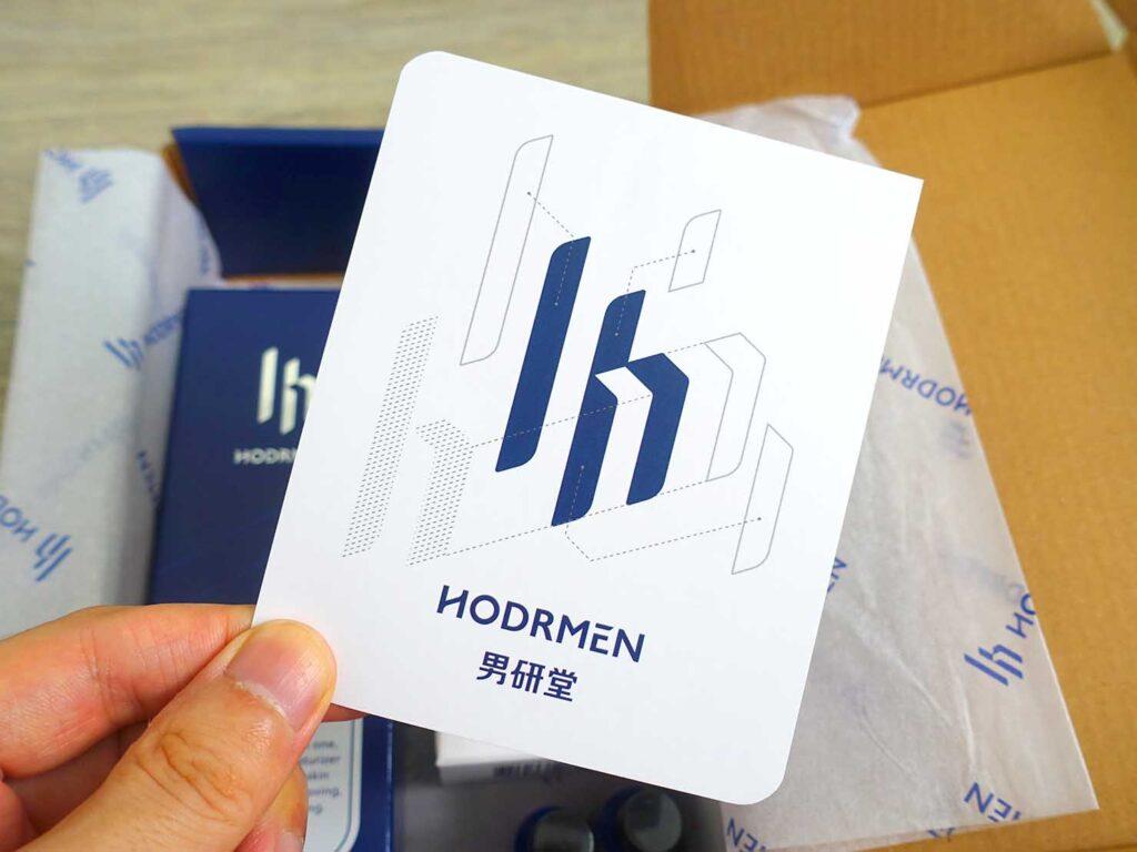 台湾生まれのLGBTフレンドリーなメンズコスメブランド「HODRMEN 男研堂」のブランドカード