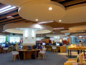 「國立台灣圖書館」1Fのパソコンエリア